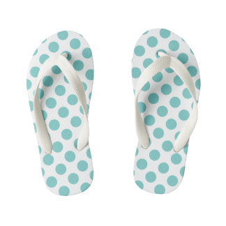Aqua Polka Dots Thongs