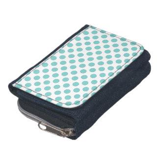 Aqua Polka Dots Wallet