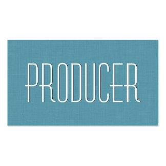 Aqua PRODUCER Simple Style V37 Pack Of Standard Business Cards