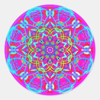Aqua Purple Dance Mandala Sticker