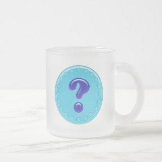 Aqua Question Mark Mug