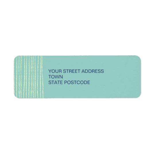 Aqua Return Address Label