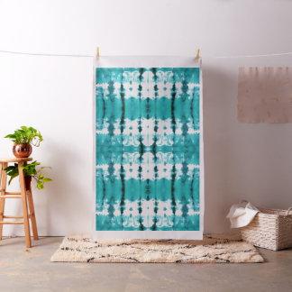 Aqua Satin Shibori Fabric