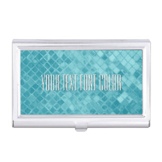 Aqua Sea Glass Personalize Case For Business Cards