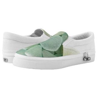 Aqua Sea Glass Sneaker Slip-On Shoes