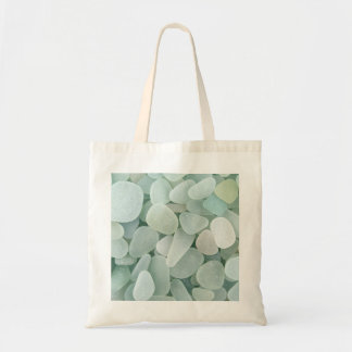 Aqua Sea Glass Tote Bag