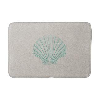 Aqua Sea Shell with Sand Texture Bath Mat