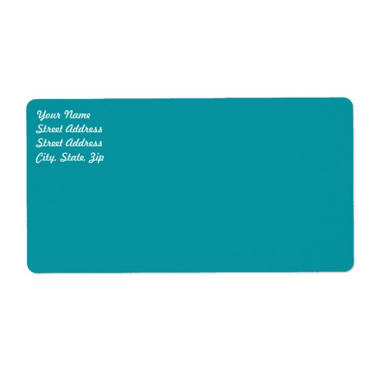 Aqua   Shipping Label