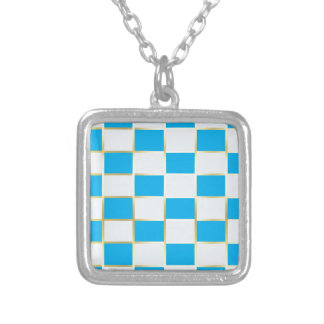 aqua silver plated necklace