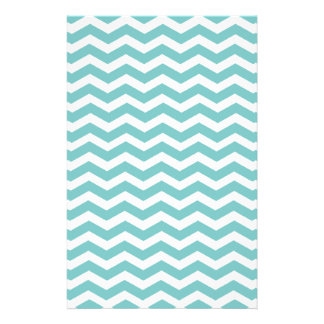 Aqua Sky & White Zigzag Personalized 5.5x8.5 Flyer
