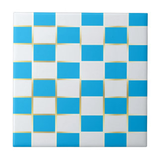 aqua small square tile