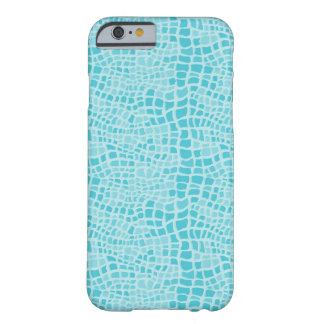 Aqua Snakeskin Pattern Barely There iPhone 6 Case