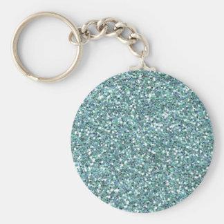 Aqua sparkles key chain