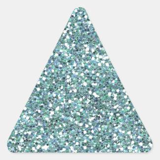 Aqua sparkles triangle sticker