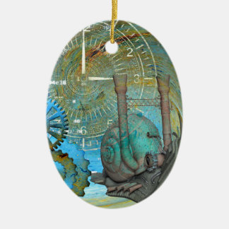 Aqua Steam Snail Traveler Ceramic Ornament