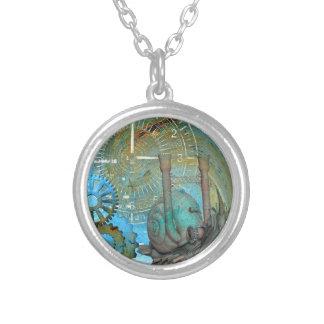 Aqua Steam Snail Traveler Silver Plated Necklace
