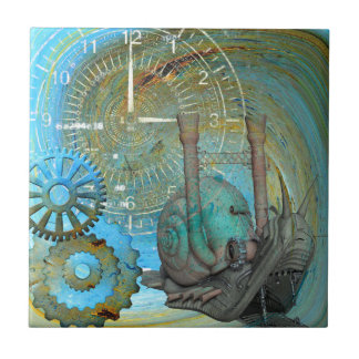 Aqua Steam Snail Traveler Small Square Tile