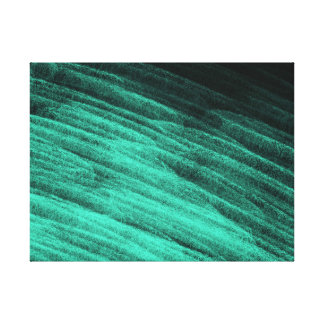 Aqua Step Waves - Canvas Print