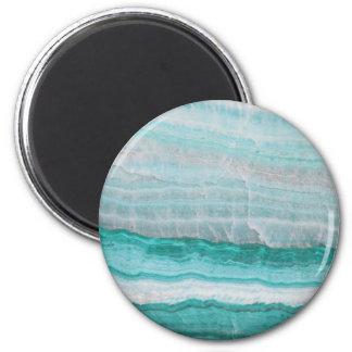 Aqua Striped Quartz Crystal Magnet