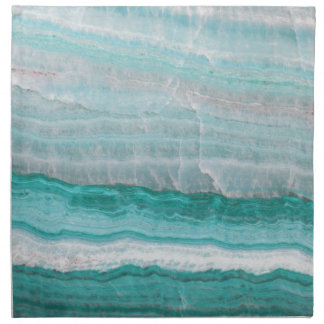 Aqua Striped Quartz Crystal Napkin