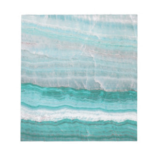 Aqua Striped Quartz Crystal Notepad