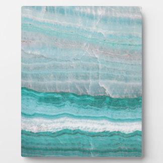 Aqua Striped Quartz Crystal Plaque