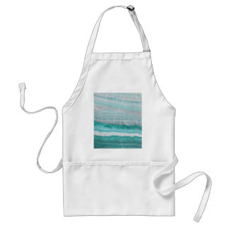 Aqua Striped Quartz Crystal Standard Apron