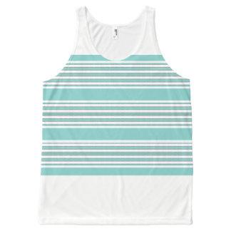 Aqua-Stripe's-Nautical-White(c)-Tank-Top All-Over Print Singlet