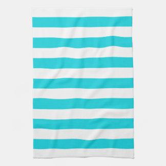 Aqua Stripes Pattern Kitchen Towels