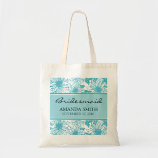 Aqua Sunflowers Personalized Wedding Party Bag