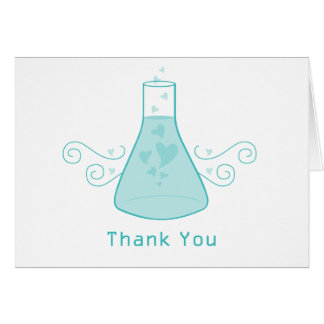 Aqua Sweet Chemistry Thank You Card