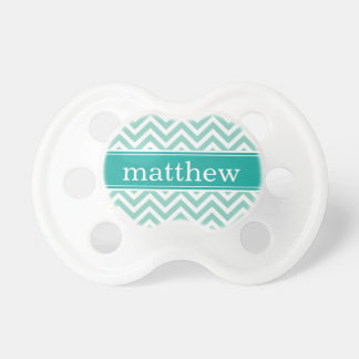 Aqua & Teal Chevron & Monogram Dummy