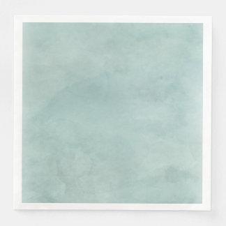 Aqua Teal Mint Watercolor Texture Wedding Paper Napkin