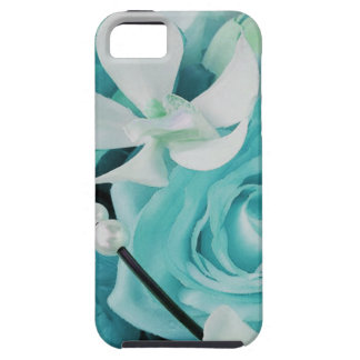 Aqua Teal Tiffany Rose Orchid Floral Phone Case