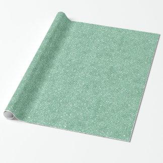 Aqua Turqoise Glitter Pattern Wrapping Paper