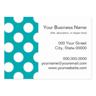 Aqua Turquoise and White Polka Dot Pattern Pack Of Chubby Business Cards