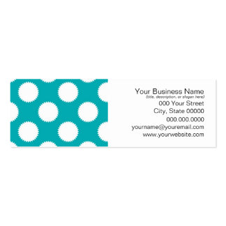 Aqua Turquoise and White Polka Dot Pattern Pack Of Skinny Business Cards