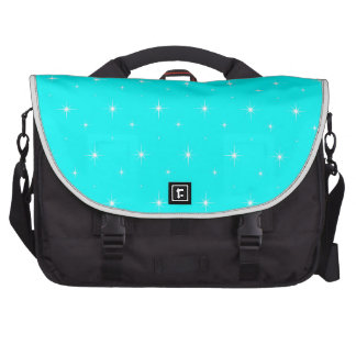 Aqua-Turquoise-Green  Shining Stars  Pattern Bags For Laptop
