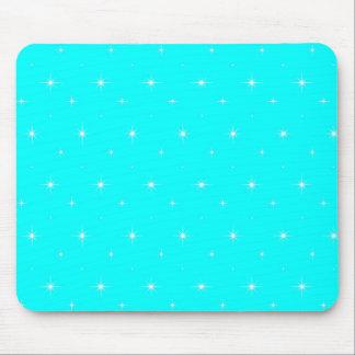 Aqua-Turquoise-Green  Shining Stars  Pattern Mouse Pads