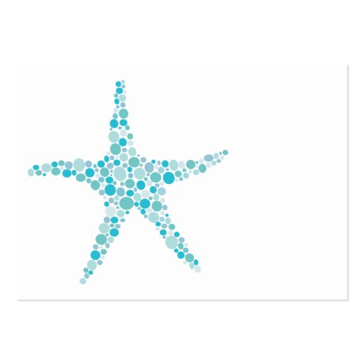 Aqua Turquoise Starfish Wedding Table Place Cards Business Card Templates