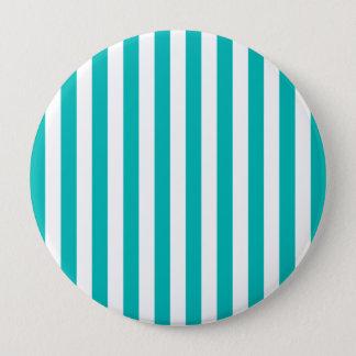 Aqua Vertical Stripes 10 Cm Round Badge