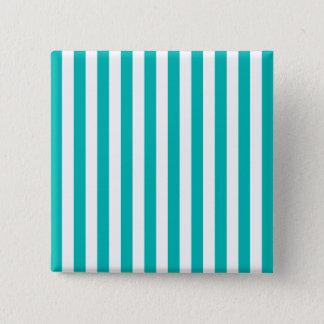 Aqua Vertical Stripes 15 Cm Square Badge