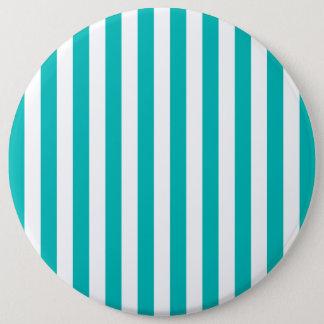 Aqua Vertical Stripes 6 Cm Round Badge