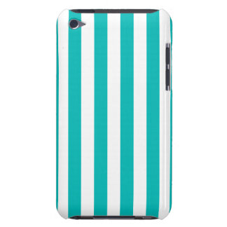 Aqua Vertical Stripes Barely There iPod Cases