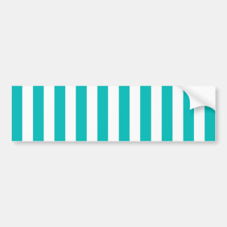 Aqua Vertical Stripes Bumper Sticker