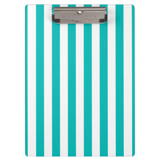 Aqua Vertical Stripes Clipboard