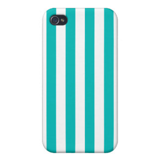 Aqua Vertical Stripes Cover For iPhone 4