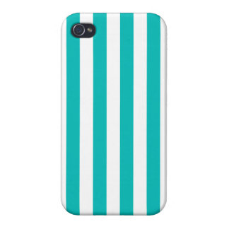 Aqua Vertical Stripes iPhone 4/4S Case