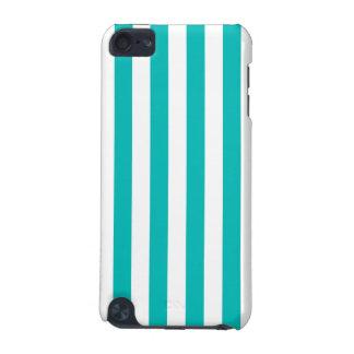 Aqua Vertical Stripes iPod Touch 5G Case