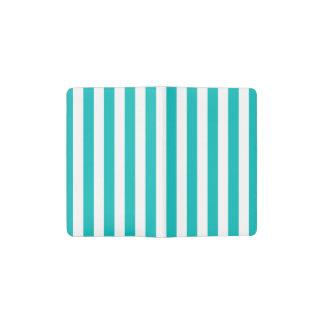 Aqua Vertical Stripes Pocket Moleskine Notebook